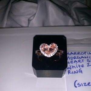 marropino morganite heart shape ring